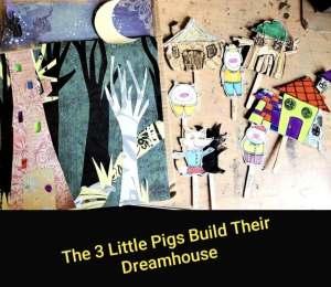 3 Little pigs build their dreamhouse
