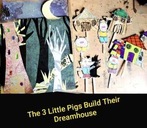 3 Little pigs build their dreamhouse