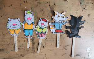 characters 3 little pigs