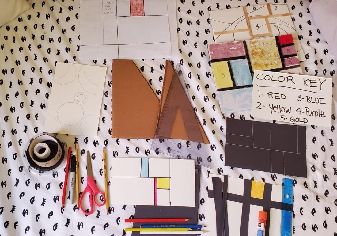 Mondrian math supplies